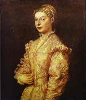 Titian. Portrait of a Girl (Lavinia). (c.1545)