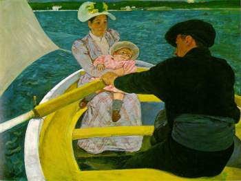 The Boating Party 1893-94 (130 Kb); Oil on canvas, 90.2 x 117.5 cm (35 1/2 x 46 1/4 in); National Gallery of Art, Washington