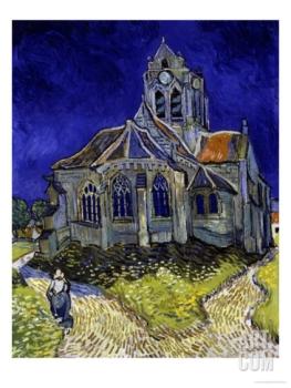 Vincent Van Gogh - The Church in Auvers-Sur-Oise, c.1890